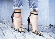 ♡ leopard heels + denim <