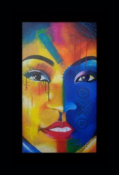 Retrato da hirondina joshua  Pintura de joao timane Artista jovem mocambicano African artist