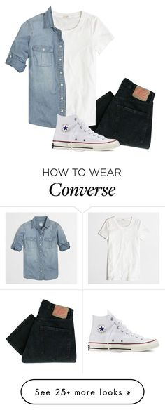"""""""For when there's a dark sun"""" by thirteen-hearts on Polyvore featuring Levi's, J.Crew, Converse, women's clothing, women, female, woman, misses and juniors"""