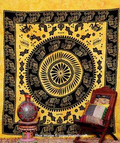 Buddha Tapestry Wall Hangings meditating buddha tapestry , indian wall hanging, beach blanket