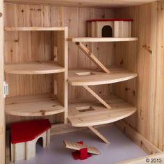 small pet cage interior-