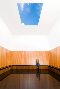 Tomorrow we will be open to everyone. One of our permanent works is the Skyspace by James Turrell, designed especially for Museum Voorlinden. We look forward to welcoming you soon. James Turrell, Futuristic Architecture, Beautiful Architecture, Harewood House, Museum Tickets, Meditation Space, Architectural Features, Land Art, Light Art
