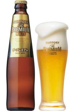 Cerveja Suntory The Premium Malt's, estilo German Pilsner, produzida por Suntory, Japão. 5.5% ABV de álcool.