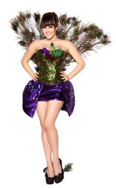 4pc Seductive Peacock Costume  - Click image twice for more info - See a larger selection  of women's animal costume at http://costumeriver.com/product-category/womens-animal-costumes/ -  holiday costume , event costume , halloween costume, cosplay costume, classic costumes, scary costume,animal costumes, classic costumes, clothing