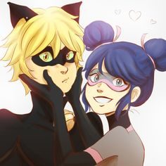 Marinette as Multimouse and Cat Noir from Miraculous Ladybug and Cat Noir