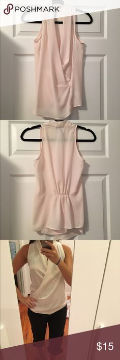 💕Sleeveless top.  Worn once! 💕 💕Sleeveless top.  Ivory/ pale pinkish color.  100% polyester.  Worn once. 💕 Kay Celine Tops Tank Tops