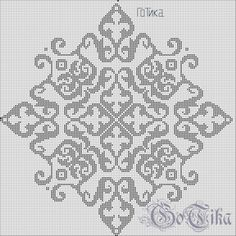 I only did it to test the E – Diy Crafts – DIY & Crafts Scheme - Stickerei Ideen Cross Stitch Pillow, Cross Stitch Borders, Cross Stitch Designs, Cross Stitching, Cross Stitch Embroidery, Cross Stitch Patterns, Blackwork, Palestinian Embroidery, Hungarian Embroidery