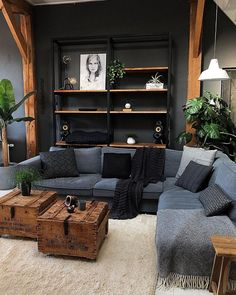 Bohemian Home Decor und Design-Ideen - HOME - Living room decor Diy Room Decor, Bedroom Decor, Wall Decor, Dark Living Rooms, Small Living, Earthy Living Room, Modern Living, Earthy Home Decor, Dark Home Decor