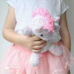 Knitted Pony Pattern - Sprinkles the Pony  This listing is for the ♥♡♥ PDF PATTERN ONLY ♥♡♥ not the finished toy.  This pattern is available in English only.  This knitted pony pattern includes detailed instructions, step by step pictures/ diagrams and helpful tips on how to knit this super cute pony plushie. Sprinkles is knitted in the round on double pointed needles, for seamless knitting. Basic knitting techniques, include; knit, knit 2 together, M1L, M1R, SSK. Other skills required…