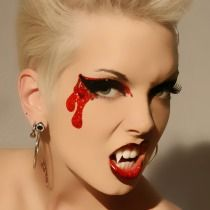 Bloodlust Glitter Eyes False Eyelashes Vampire Costume Makeup Xotic Eyes