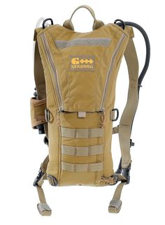 Trim and Compact Water System. Comes loaded with a 70 oz hydration engine, but can host the 100 oz hydration engine. 360 degrees of D-Rings, Stowable Straps, Insulated Tube, 500D Cordura. Carry it. Molle to it. Molle it to your pack, your armor or load bearing vest. Basically a water carrying pack, but has enough room for a few snacks and the ability to attach a separate pocket to the outside of the pack should you desire to carry more items. The molle strips at the top and bottom of the ...