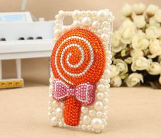 Very sweet lovely crystal lollipops cell phone cover by emma999, $28.90