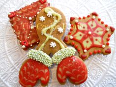 Glazed Gingerbread Cookies by Robin Traversy {The Cookie Faerie}.
