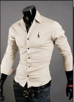 Mens Casual Button Down Shirts Embroidered Logo – eDealRetail