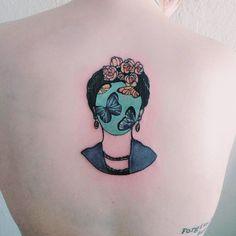 @makhalovski Frida Kahlo tattoo