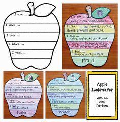 Classroom Freebies: Back To School Apple Icebreaker