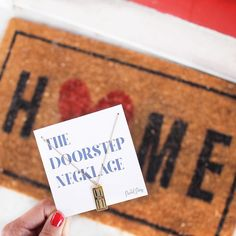 There truly is no place like home! Keep home close by with our Doorstep Necklace. What a perfect Valentines Day Gift!