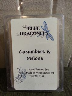 hand poured cucumbers & melons soy melts