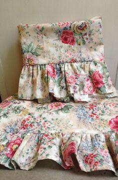 NEW Vintage Ralph Lauren Brittany Floral Ruffled Sham ~ Cottage Chic #RalphLauren #ShabbyChicCottageChic