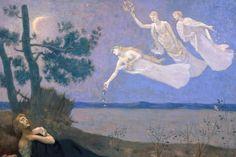 Pierre Puvis de Chavannes (1824 -1898) - The Dream, 1883.