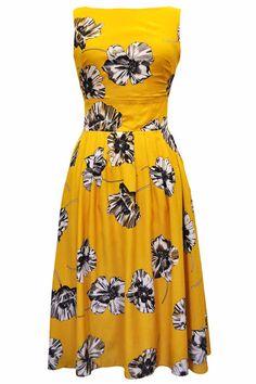 Yellow Rosanie Dress : Lady Vintage