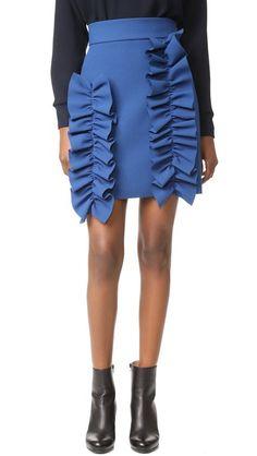 MSGM Ruffle Crepe Skirt