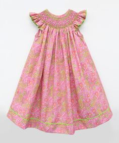 Look what I found on #zulily! Pink Paisley Bishop Dress - Infant, Toddler & Girls #zulilyfinds - $36.99