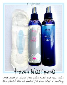 Frozen BLISS! Pads for Postpartum Ouch!