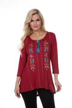 36e2d80158 Two Funky Cousins · Threads · Krista Lee Tunic Embroidered and Embellished  with Beadwork Beadwork