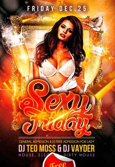 Sexy Friday Free Flyer PSD Template