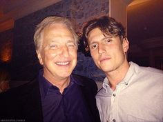 "August 2013 -- Alan Rickman with Morgan Watkins, who worked with him on ""A Little Chaos."""