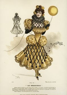 """gravesandghouls: """" Fancy Dress Costumes c. 1800s (via) The Golden Star, Spring Butterfly, Sir Sun, Lucky Charm, The Poppy and The Airship """""""