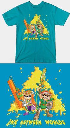 Legend of Zelda Splatoon T Shirt   Two Nintendo games collide. Fantastic mashup design featuring Link and the Princess.   #ALBW #Splatoon