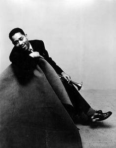 Irving Penn - Portrait, Dizzy Gillespie, Version C, 1947 for Vogue Magazine.