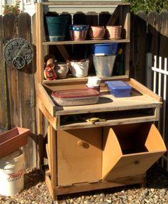 DIY Potting Bench   Garden Work Bench