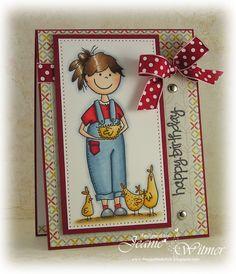 Such a cute card!!   Farm Girl, by Jeanie Witmer     Using 'farm girl'  whippersnapperdesigns.com