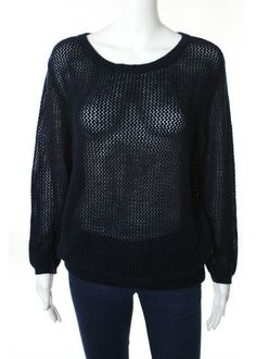 MONIKA CHIANG Navy Blue #Cashmere Long Sleeve Knit Sweater Sz S #MONIKACHIANG #Knit $39 only wow