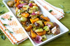 Balsamic Roasted Brussels Sprouts and Kabocha Squash