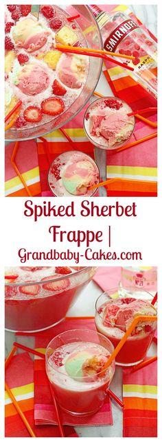 Spiked Sherbet Frappe | Grandbaby-Cakes.com #ad