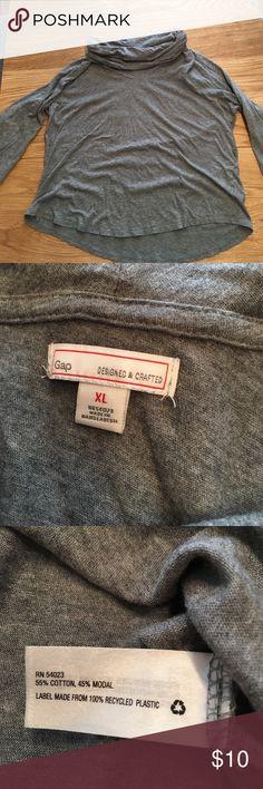 GAP cowl next top, grey, size XL Super cute GAP cowl next top, grey, size XL. Never worn. Perfect condition. Cotton and modal. GAP Tops Tees - Long Sleeve