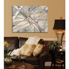Large Printed 'Cross Country' Framed Gallery-wrapped Canvas Art