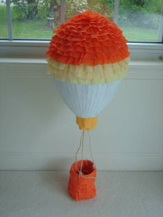 This would've been perfect for Sophie's Hot Air Balloon Birthday Party...    http://www.stephmodo.com/2011/03/hot-air-balloon-birthday-party.html      Hot Air Balloon Party Pinata by PinataParadise on Etsy. $43.00 USD, via Etsy.