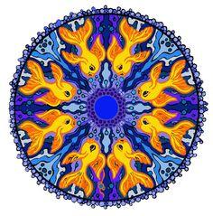 fish mandala - would be  cool tattoo