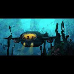An underwater concept #paint #painting #practice #photoshop #art #artist #apaintingeveryday #artistworkout #artistsoninstagram #study #sketch #digitalart #digitalpainting #wacom #landscape #submarine #illustration #conceptart #visdev by tadretz