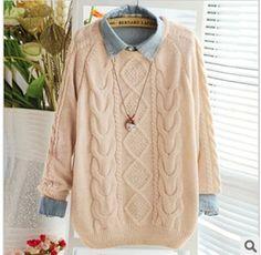 Encontrar Más Jerseys Información acerca de 2016 invierno primavera ropa mujeres  de corea Retro suelta cuello 7576c0b28195