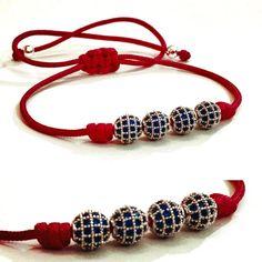 Bracelets By Vila Veloni Red Rope Zirconia