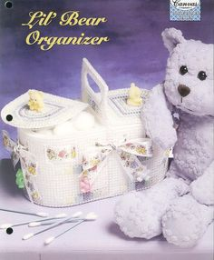 Little Bear Organizer Plastic Canvas by needlecraftsupershop, $3.50