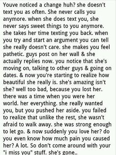 I wish you could read this before it's too late...