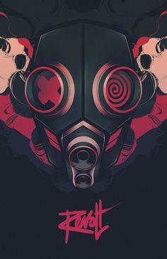 Revolt Series by Thomas Rohlfs, via Behance #illustration #digital #poster #vector