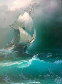 In choosing a sailboat, many people find it difficult to know where to start. Ship Paintings, Seascape Paintings, Old Sailing Ships, Ship Drawing, Boat Art, Boat Painting, Painting Canvas, Sea Waves, Ocean Art